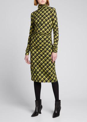 Proenza Schouler White Label Semisheer Stretch Jersey Turtleneck Dress