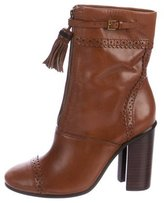Tory Burch Huxley Leather Ankle Boots