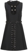Miu Miu Embellished Silk And Wool Dress