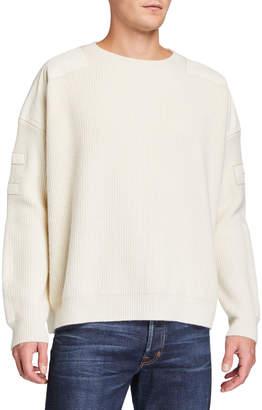 Amiri Men's Military Patch Crewneck Sweater
