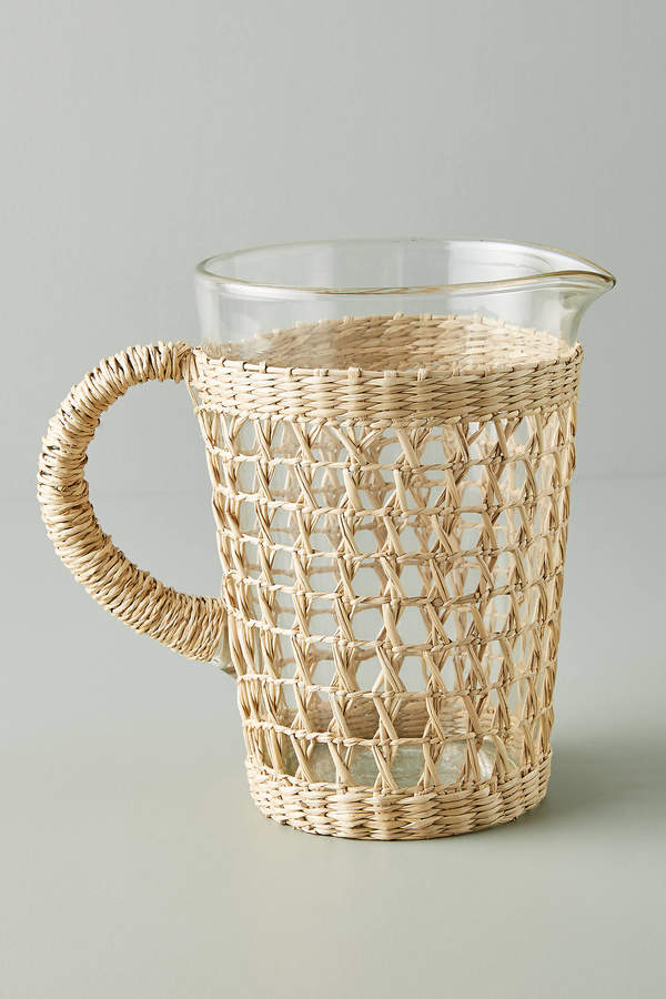 Seagrass-Wrapped Pitcher By Anthropologie in Beige Size PITCHER