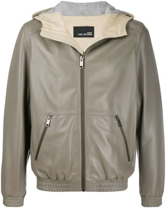 Yves Salomon Hooded Leather Jacket