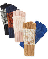 Rampage Marled Flip-Top Gloves, Only at Macy's