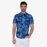 Nautica Big & Tall Leaf Print Short Sleeve Shirt