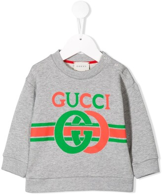 Gucci Kids printed logo sweatshirt