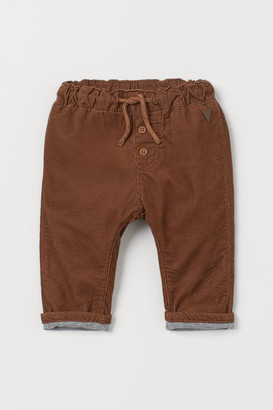 H&M Fully lined corduroy trousers