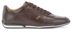 HUGO BOSS Low-top trainers in nappa leather with lasered perforations
