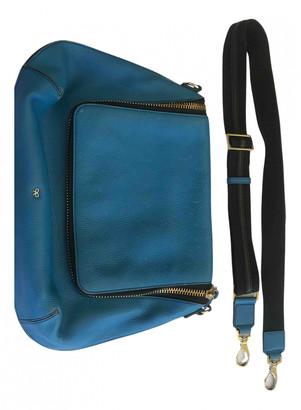 Anya Hindmarch Maxi Zip Blue Leather Handbags