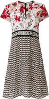Dorothee Schumacher floral and geometric panel print dress