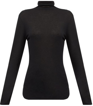 Ann Demeulemeester Roll-neck Split-hem Wool Sweater - Black