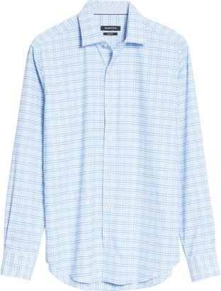 Bugatchi Check Button-Up Performance Shirt