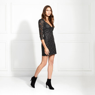 Rachel Zoe Anya Metallic Lace Mini Dress