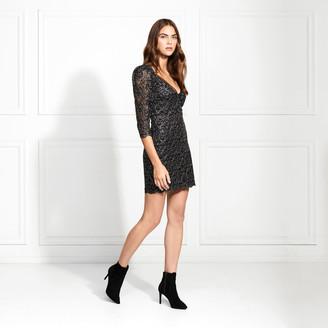 Rachel Zoe Anya Metallic Lace Mini Dress