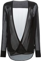 Ermanno Scervino pleated wrap front blouse