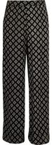 River Island Girls black diamond print palazzo trousers