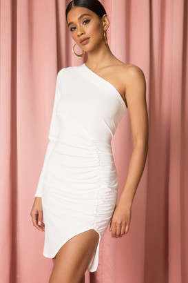 superdown One Shoulder Ruched Dress