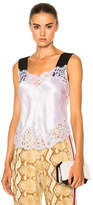 Givenchy Silk Satin Lace Tank