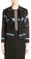 Yigal Azrouel Women's Bird Garden Lace Moto Jacket