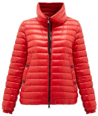 Moncler Down-filled Lightweight Nylon Jacket - Womens - Red