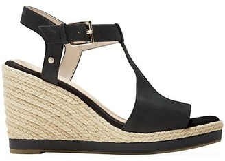 Cole Haan CloudFeel Leather Espadrille Wedge Sandals