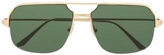Cartier Santos de pilot-frame sunglasses