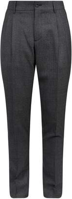 Burberry Check Wool Chino Trousers