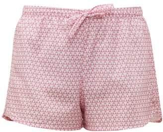 Derek Rose Ledbury 27 Geometric Printed Cotton Pyjama Shorts - Womens - Pink