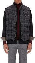 Luciano Barbera Men's Houndstooth Wool-Blend Puffer Vest-DARK GREY