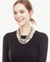 Ann Taylor Flower Statement Necklace