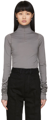 Lemaire Grey Twisted Second Skin Turtleneck