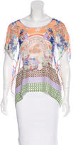 Clover Canyon Sheer Printed Top