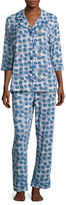 Asstd National Brand Warm Milk by Bedhead 3/4-Sleeve Notch Pants Pajama Set