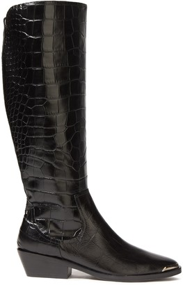 Sigerson Morrison Jaden Croc-effect Leather Boots