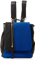 Cynthia Vincent Helga Mesh-Panel Neoprene Backpack, Cobalt/Black