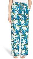 Ella Moss Tropical Print Tie Waist Pant