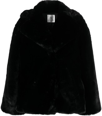 Anine Bing Short Faux Fur Coat