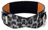 Deercon Women Metal Elastic Stretch Waist Belt Wide Cummerbund Waistband