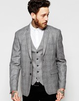 New Look Blazer With Grey Check