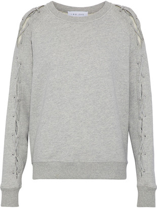 IRO Nakina Lace-up Cotton Sweatshirt