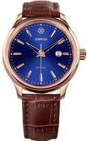 Jowissa Men's Tiro 45mm Brown Leather Band Quartz Dial Watch J4.203.l