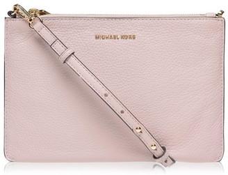 MICHAEL Michael Kors Large Pebbled Leather Double Pouch Crossbody Bag