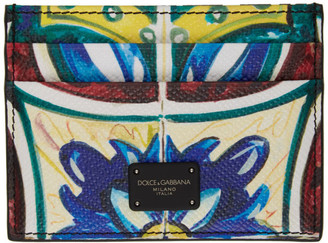 Dolce & Gabbana Multicolor Maiolica Card Holder