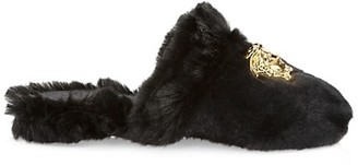 Versace Palazzo Faux Fur Slippers