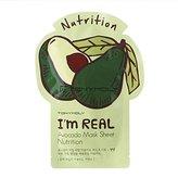 Tony Moly Tonymoly I'm Real Skin Care Facial Mask Sheet Package (Avocado - Nutrition 10 Sheets)