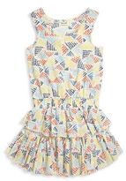 Splendid Girls Ruffled Dot-Printed Dress