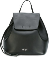 No.21 flap backpack - women - Cotton/Calf Leather - One Size