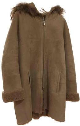 Gerard Darel Beige Shearling Coat for Women