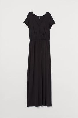 H&M Jersey Maxi Dress - Black