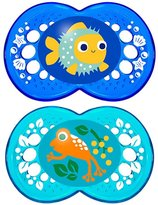 Mam crystal silicone Pacifier 2-Count 6+ months - BLUE/BLUE