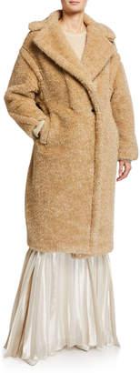Max Mara Park Teddy Fleece Oversized Coat